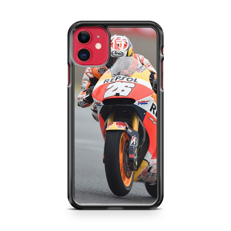 Dani Pedrosa Wet Race iPhone 11 Case Cover | Overkill Inc.