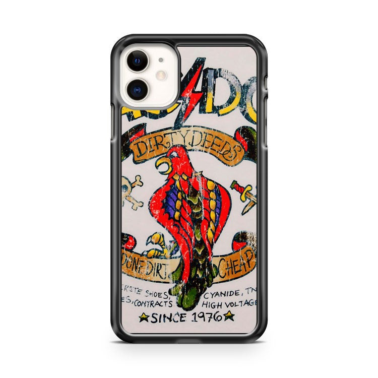 Ac Dc Dirty Deeds Parrot iPhone 11 Case Cover | Overkill Inc.