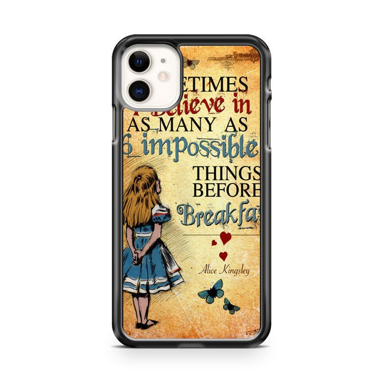 Alice In Wonderland Bonkers Quote Mad iPhone 11 Case Cover | Overkill Inc.