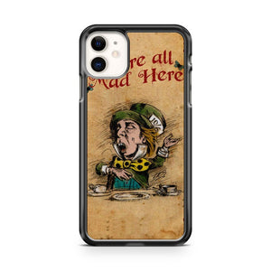 Alice In Wonderland Giant Vintage Playing Cards iPhone 11 Case Cover | Overkill Inc.