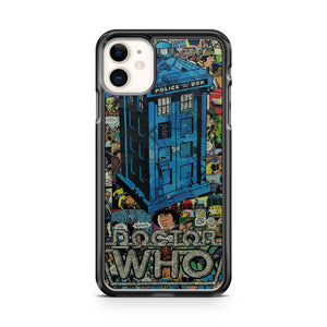 Comics Doctor Who Collage iPhone 11 Case Cover | Overkill Inc.