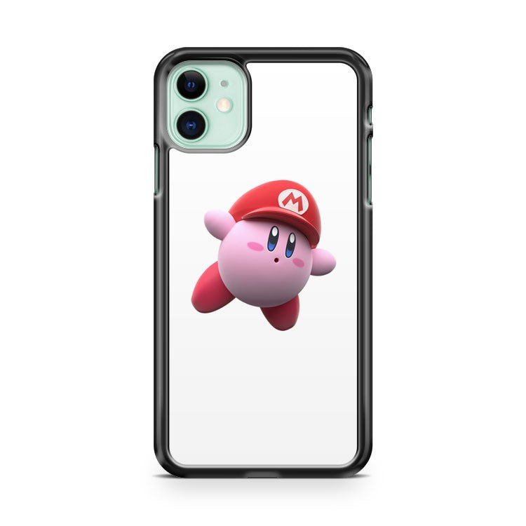Cute Kirby With Mario Hat iPhone 11 Case Cover | Overkill Inc.