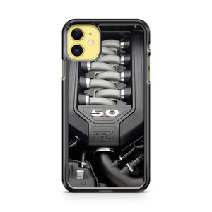 2017 Ford Mustang 32V Tivct Engine 2 iPhone 11 Case Cover | Overkill Inc.
