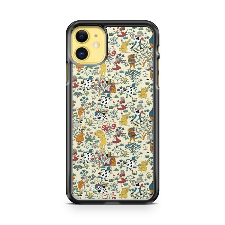 Alice In Wonderland Pattern iPhone 11 Case Cover | Overkill Inc.