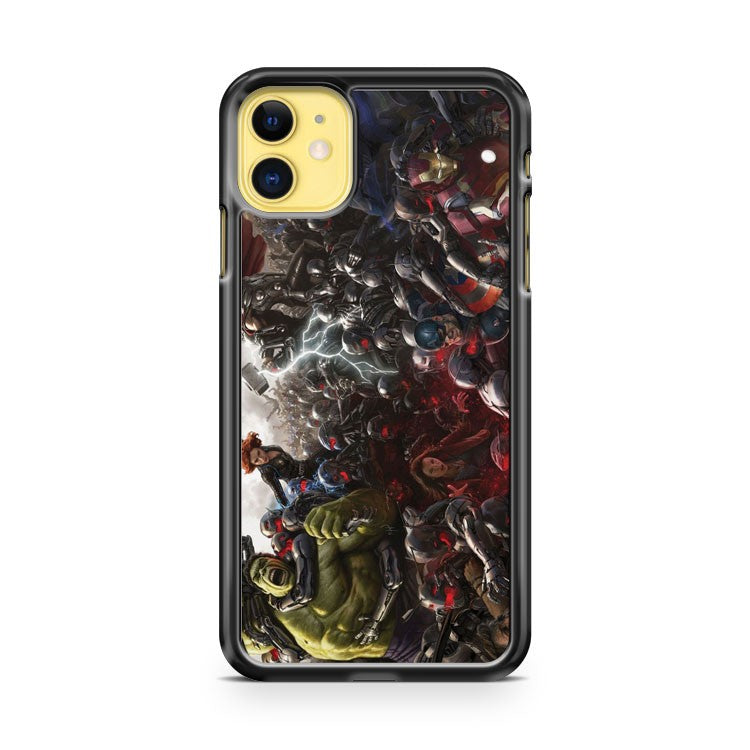 Avengers Age Of Ultron Art Poster iPhone 11 Case Cover | Overkill Inc.