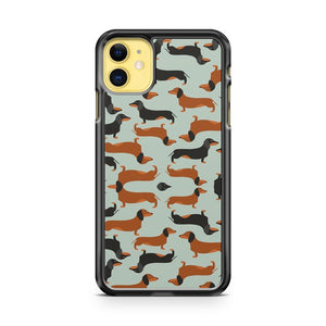Dachshund Dogs Pattern iPhone 11 Case Cover | Overkill Inc.