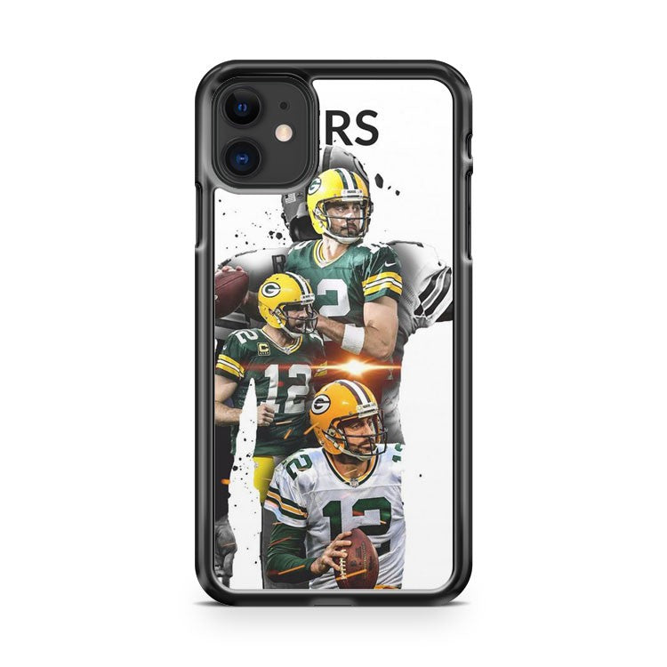 Aaron Rodgers Green Bay Packers 4 iPhone 11 Case Cover | Overkill Inc.