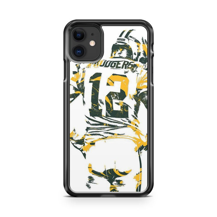 Aaron Rodgers Green Bay Packers 8 iPhone 11 Case Cover | Overkill Inc.