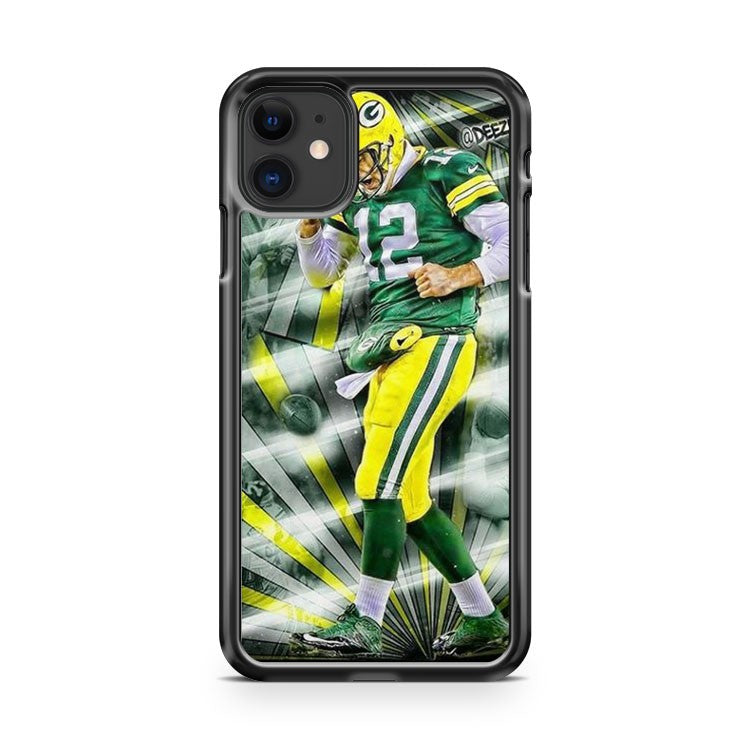 Aaron Rodgers Green Bay Packers 11 iPhone 11 Case Cover | Overkill Inc.