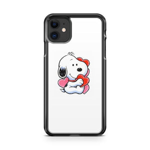 Baby Snoopy With Hearts iPhone 11 Case Cover | Overkill Inc.