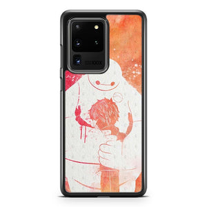 Hiro And Baymax Hug Watercolor Samsung Galaxy S20 Ultra Case Cover