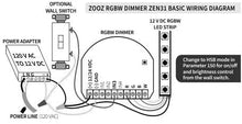 Load image into Gallery viewer, Zooz ZEN31 Z-Wave Plus S2 RGBW Dimmer
