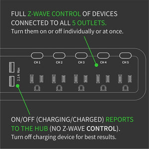Zooz ZEN20 Z-Wave Plus S2 Power Strip