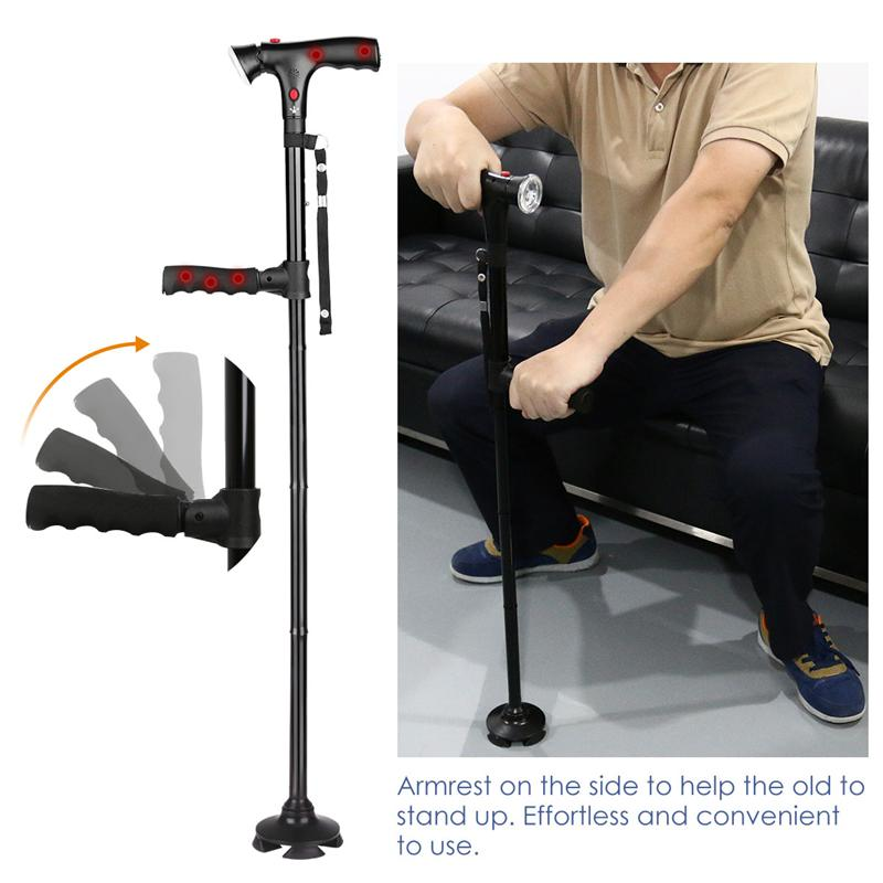 Collapsible Travel Walking Cane/Stick With 6 LED Lights