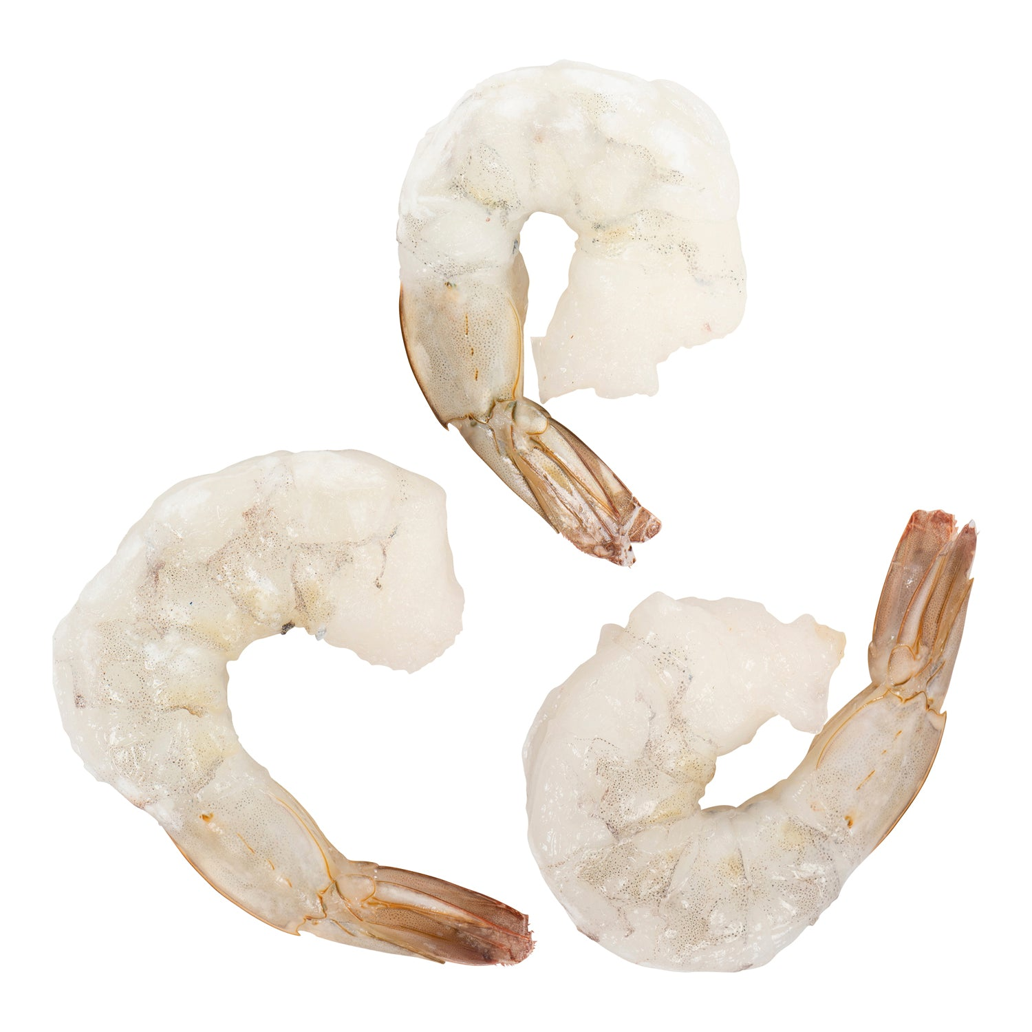 Sysco Portico Frozen Raw Extra Jumbo Shrimp Peeled & Deveined With Tail On 2.5 lb - 2 Pack [$11.60/lb]