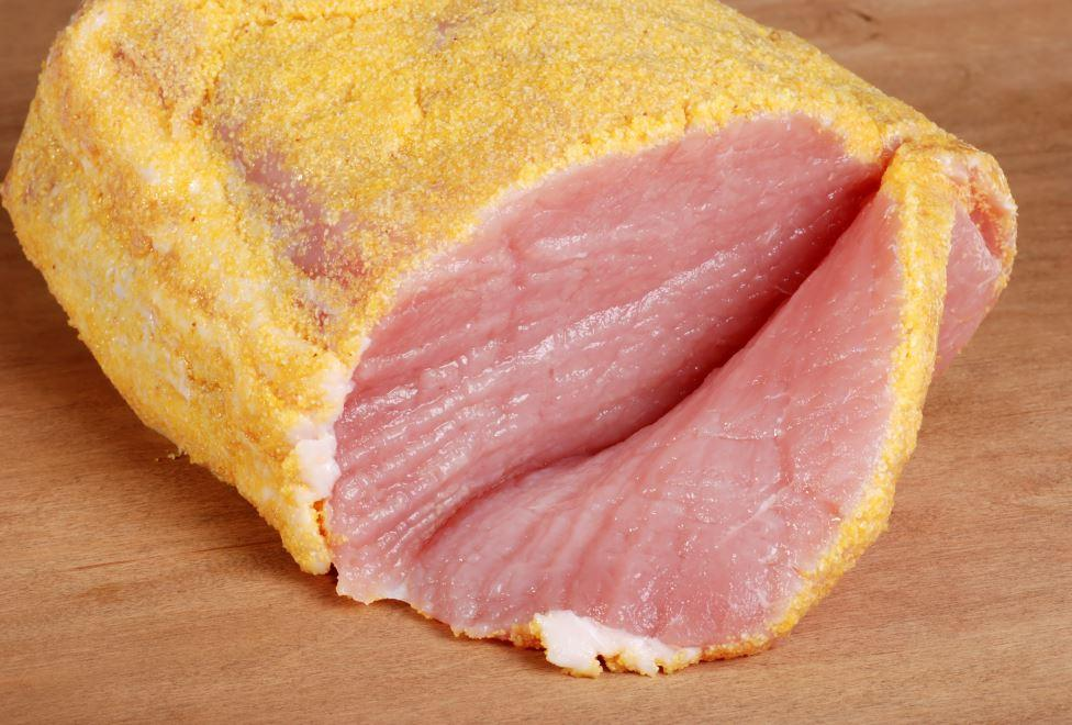 Sysco Fine Meats Frozen Sliced Centre Cut Peameal Bacon 7mm Thickness 5 kg - 1 Pack [$15.00/kg]