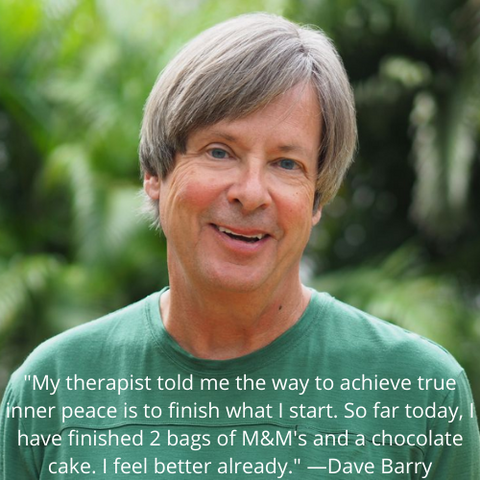 Cosmic Humor Dave Barry Inner Peace Chocolate Cake Quote