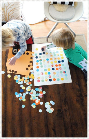 Kids Art Project with Large Hole Punches