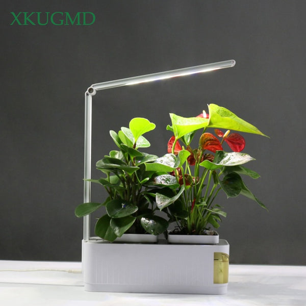 Smart Herb Garden Kit Led Grow Light Hydroponic Growing Multi function Desk Lamp Garden Plants Flower Hydroponics Grow Tent Box Us Plug