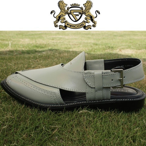 Light Grey Peshawari Chappal