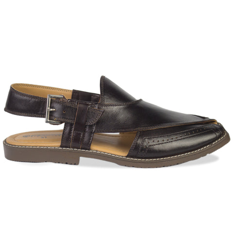 Chocolate Brown Peshawari Chappal