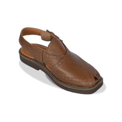 Light Brown Peshawari Chappal