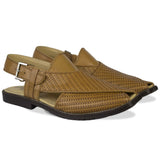 Brown Knitted Pattern Peshawari Chappal