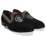 Elega Embroidered Slip Ons