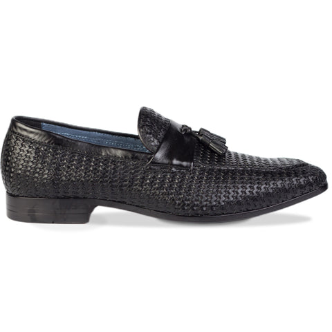 Da Vinci Tassel Loafers Black
