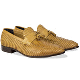 Da Vinci Tassel Loafers Tan