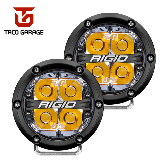 "Rigid Industries 4"" 360 Series Lights with colored backlight (Spot)"