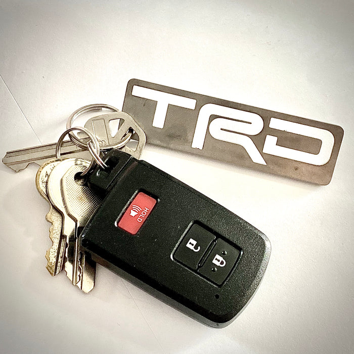 Stainless steel TRD keychain