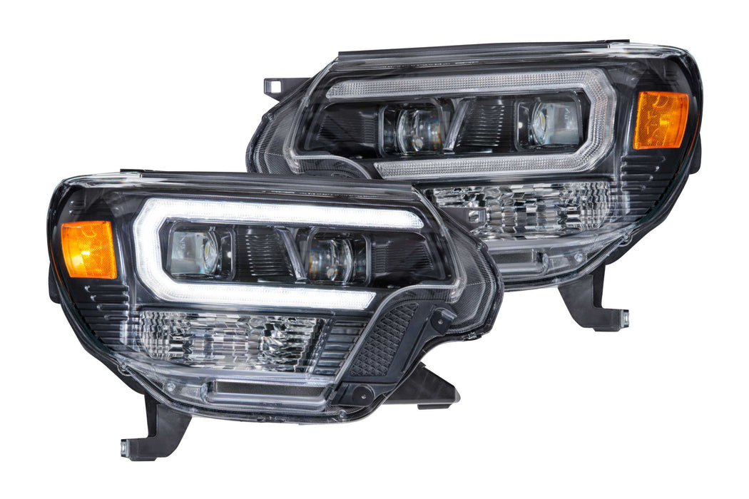 XB Hybrid LED Headlights for 2012 - 2015 Tacoma (Pair / ASM / DRL)