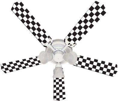 checkerboard fan blades 52""
