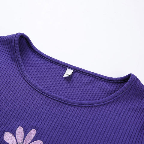purple daisy tank
