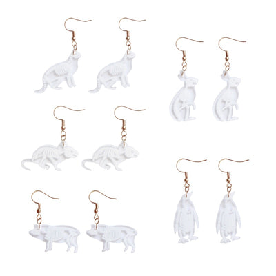 Animal Skeleton Earrings
