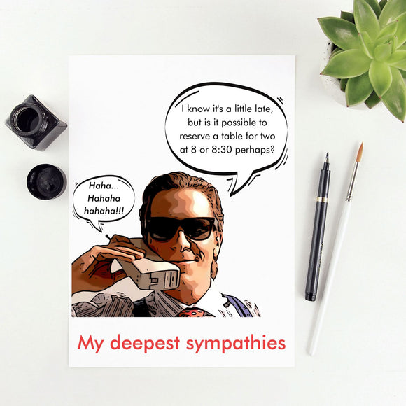 American Psycho - Deepest Dorsia Sympathies Cards Tasteless Greetings
