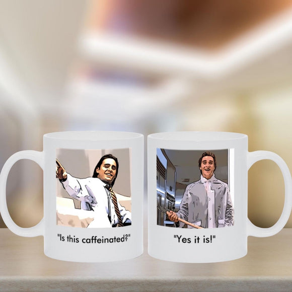 American Psycho - Raincoat Two-Sided Coffee Mug Mugs Tasteless Greetings