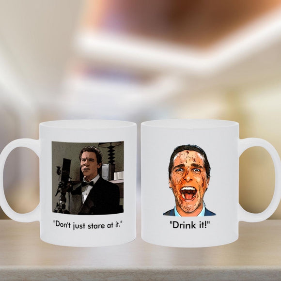 American Psycho - Stare At It Two-sided Mug Mugs Tasteless Greetings