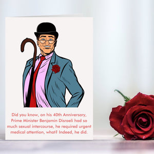 Anniversary Card - British Humour Cards Tasteless Greetings
