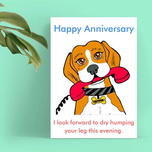 Anniversary Card - Dry Hump Cards Tasteless Greetings