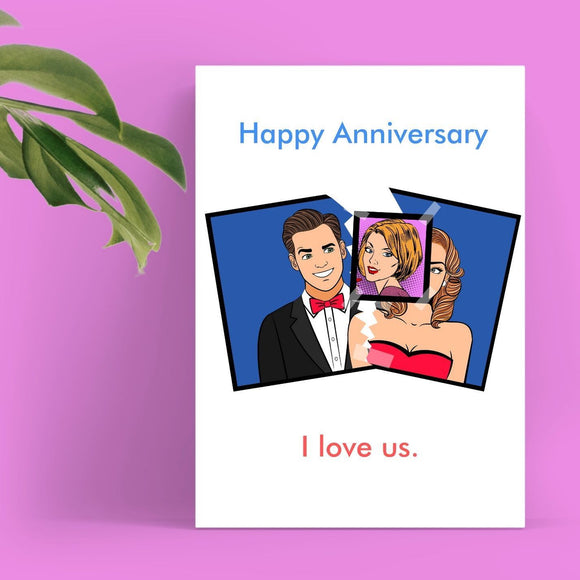 Anniversary Card - Female Stalker, I love Us Cards Tasteless Greetings