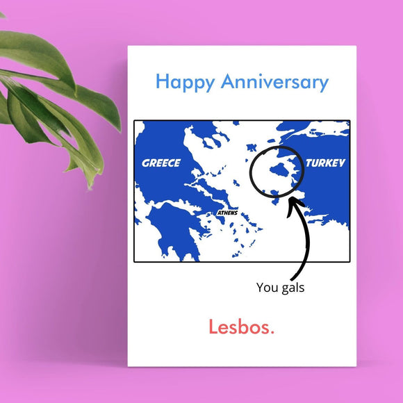 Anniversary Card - Lesbos Cards Tasteless Greetings