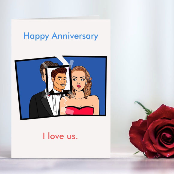 Anniversary Card - Male Stalker, I love Us Cards Tasteless Greetings