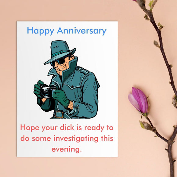 Anniversary Card - Private Dick Cards Tasteless Greetings