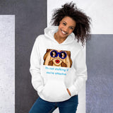 Attractive Stalker Unisex Hoodie Tasteless Greetings White S