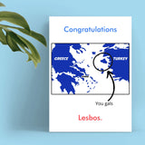 Congratulations Card - Lesbos Cards Tasteless Greetings