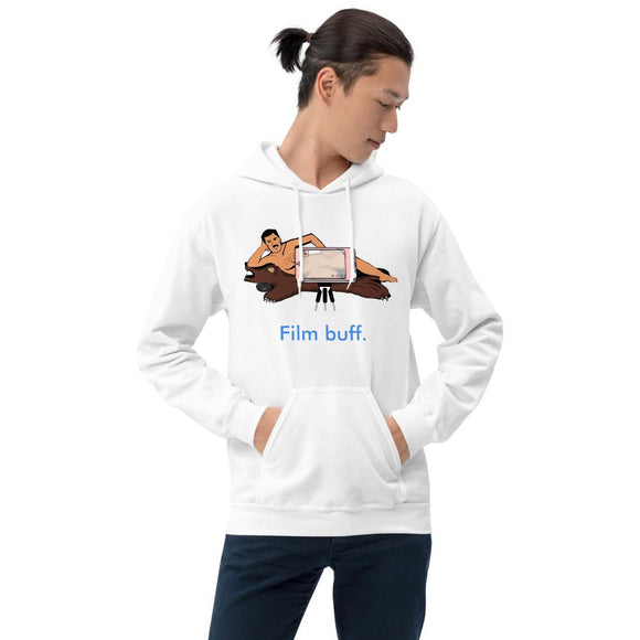 Film Buff Nude Video Unisex Hoodie Tasteless Greetings White S