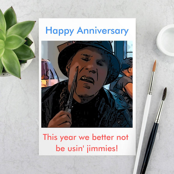 Gator - Anniversary Card - No jimmies this year Cards Tasteless Greetings