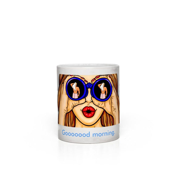 Goooood Morning - Magic Appearing Image Mug Mugs Tasteless Greetings